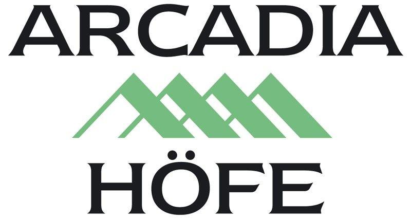 Logo Arcadia Höfe in Grün und Schwarz