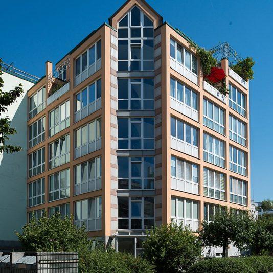 Prinzenpark Fassadenansicht Eckwohnhaus