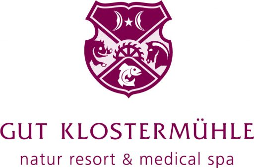 Logo Gut Klostermühle Wappen in Rot