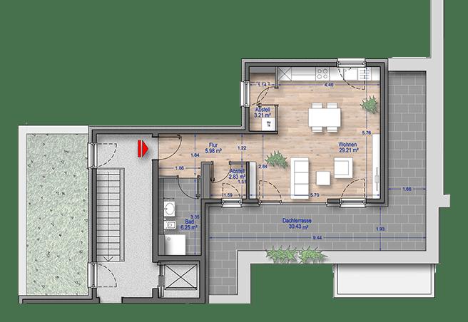 Grundriss 1 Zimmer Wohnung Düsseldorf
