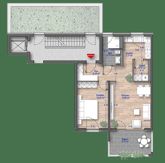 Grundriss 2 Zimmer Wohnung Düsseldorf