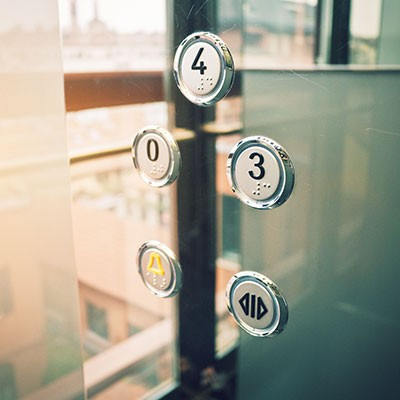 Control panel elevator in stainless steel high gloss polished