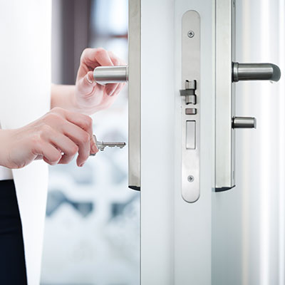 Operation of secure lock on front door