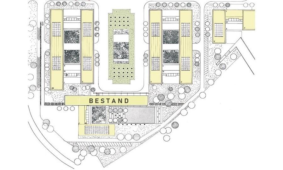 Airport Trade Center Lageplan Grünanlagen und Mietflächen farbig angelegt
