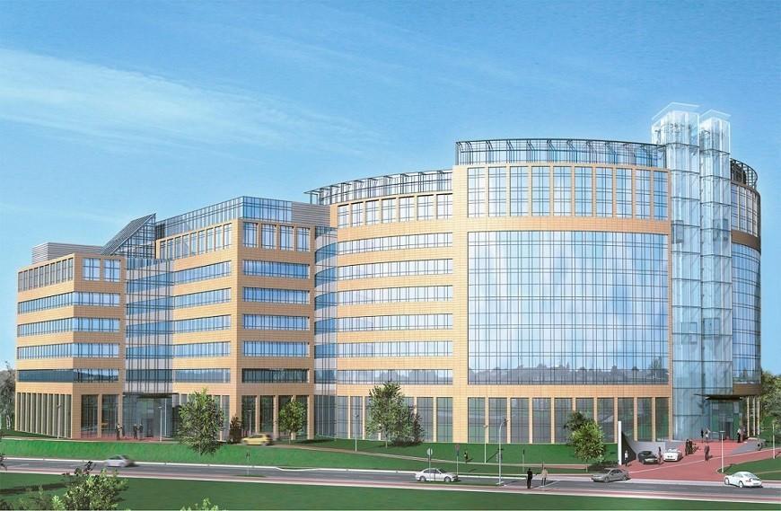 Arcadia Parc Visualisierung Gesamtgebäude alle Bauabschnitte