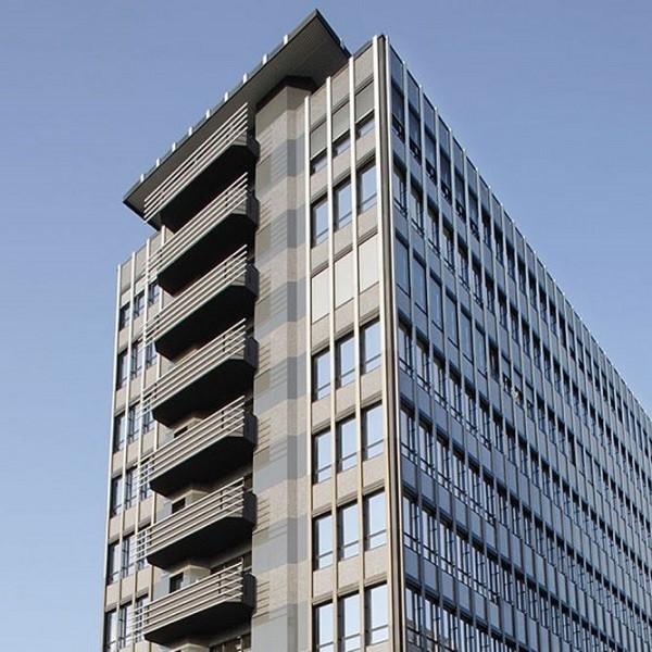 Bürocenter Nord Ausschnitt obere Etagen Bürogebäude Oberrather Straße