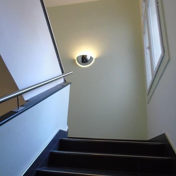 Königsallee 96 Innenansicht Detail Treppenaufgang mit Edelstahlgeländer