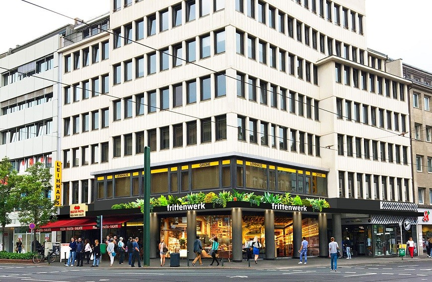 Schadowstraße 86-88 view of facade building corner position seen from the street