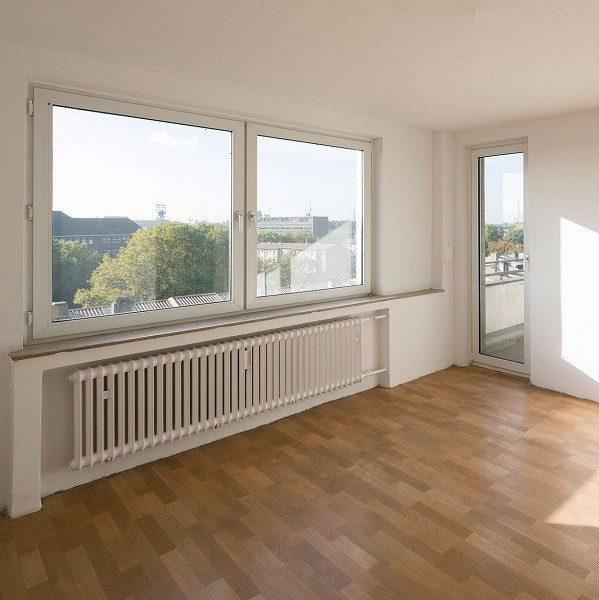 Zinkhüttenpark Innenansicht Blick aus Wohnzimmerfenstern