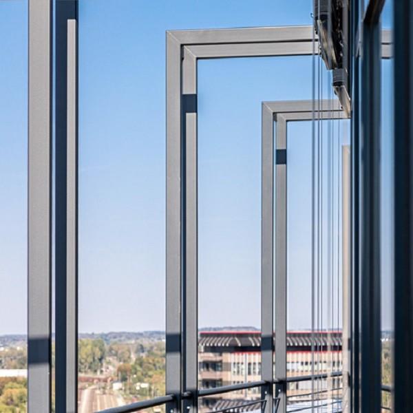 Arcadia Stern detail metal steels on roof terrace